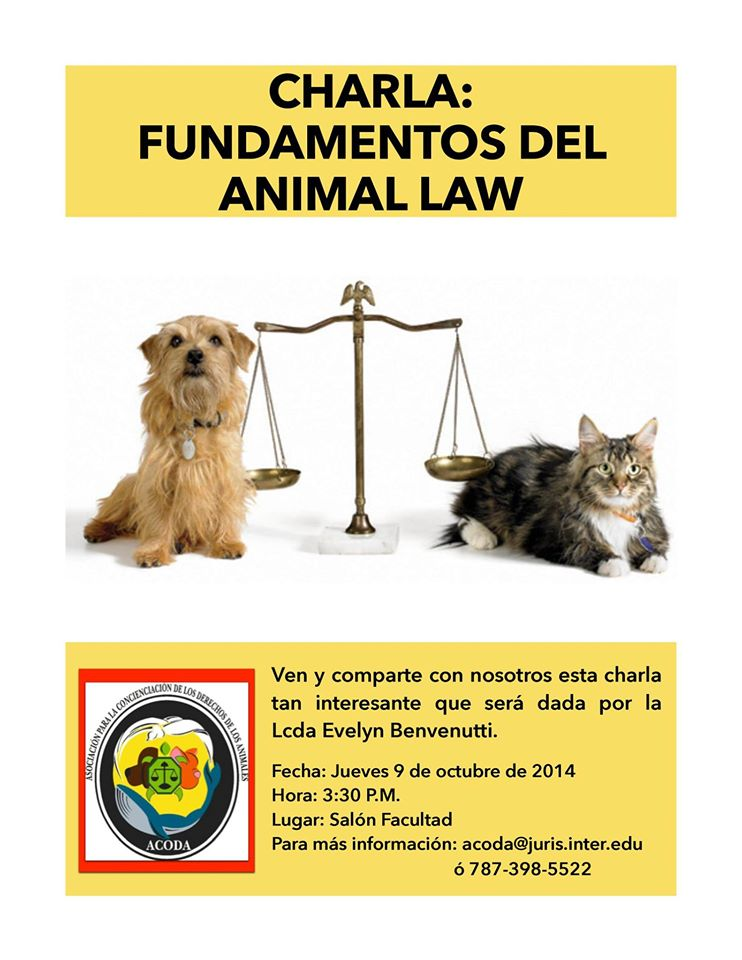 Charla: Fundamentos del Animal Law