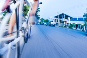 Bicicleta, tráfico