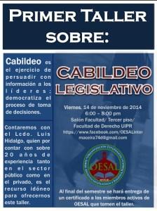 Taller de cabildeo legislativo en la Inter Derecho