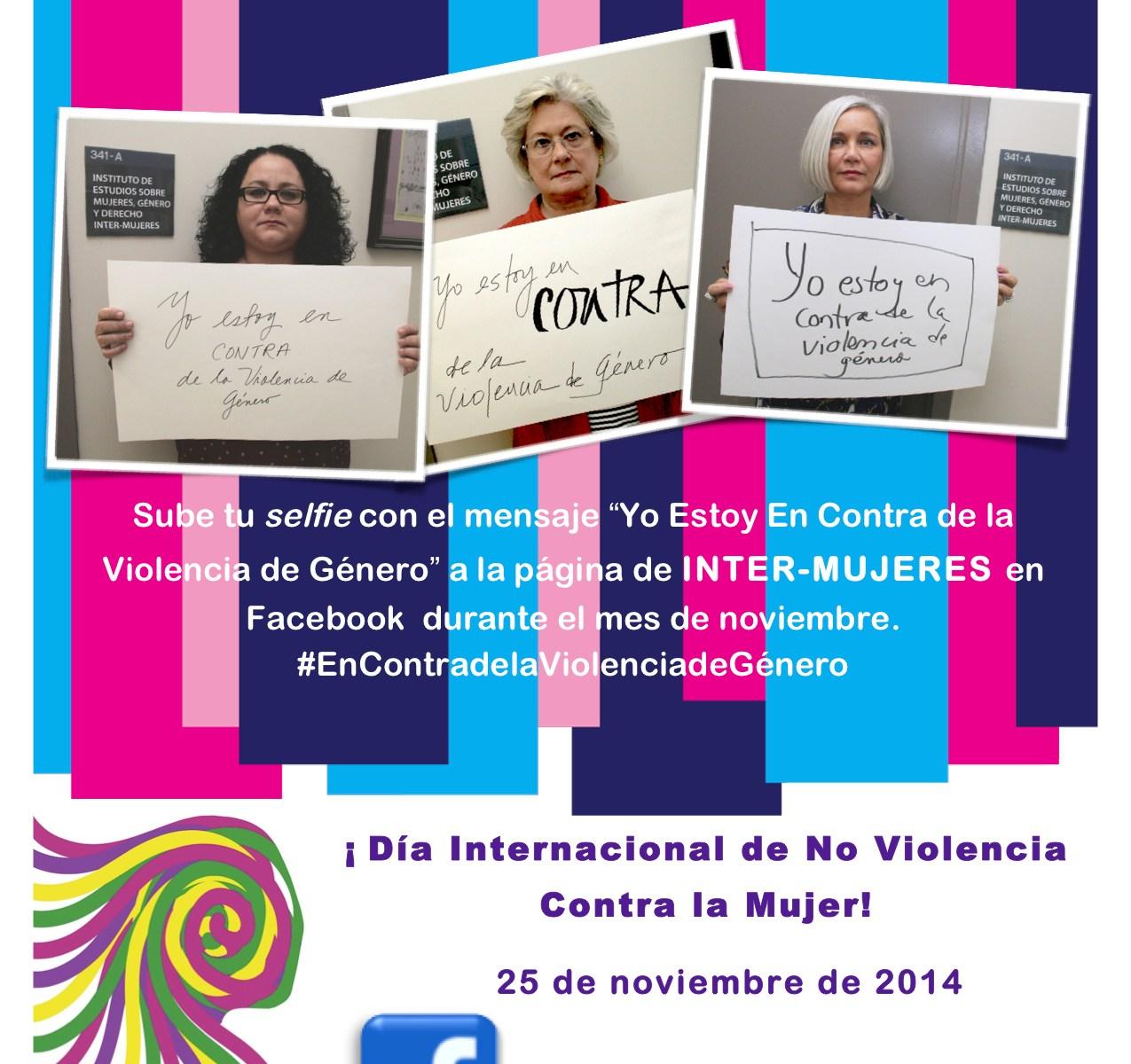 """""""Selfies"""" para concienciar sobre violencia de género en la Inter Derecho"""