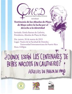 Testimonios de Abuelas de Plaza de Mayo en la Inter Derecho