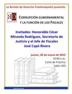 Corrupción gubernamental y la función de los fiscales