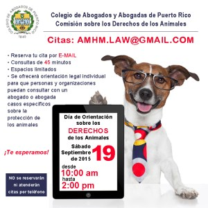 Día de orientación legal sobre los derechos de los animales