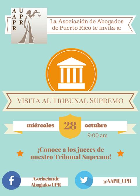 Asociación de Abogados invita a visita guiada al Tribunal Supremo
