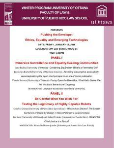 Profesores de Derecho de Ottawa y Puerto Rico ofrecen conferencia sobre ética, igualdad y tecnologías emergentes