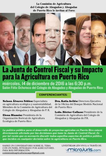 Microjuris transmitirá foro del impacto de la Junta de Supervisión en la agricultura de Puerto Rico