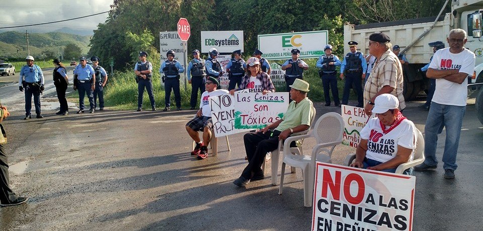 Campamento Contra Cenizas de Carbón. Peñuelas