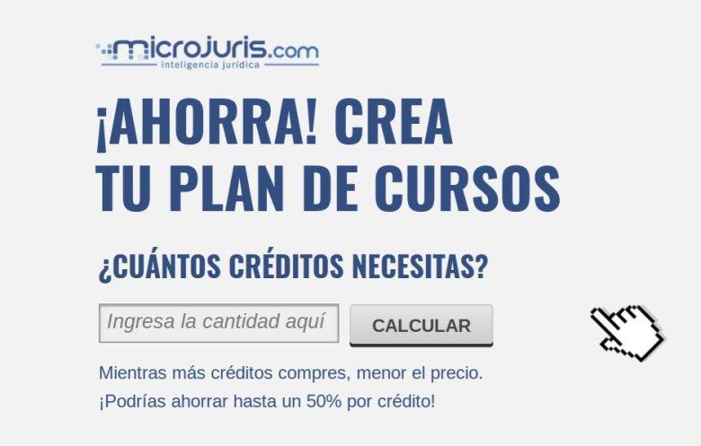 ¿Cuántos créditos necesitas?