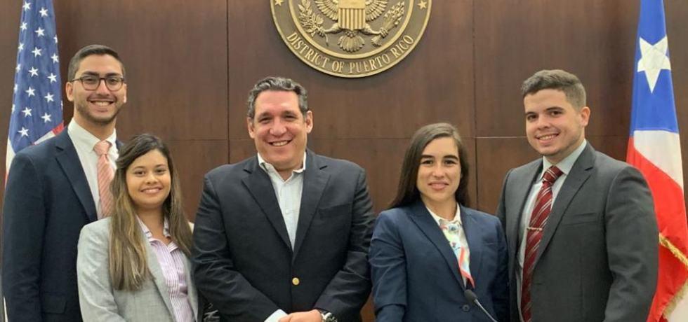 Estudiantes de Derecho representan a la Universidad de Puerto Rico en prestigiosa competencia de litigio federal