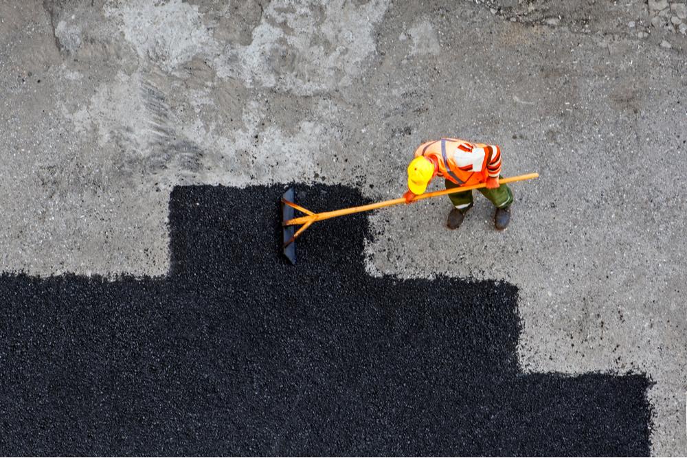 asfalto brea construcción calle