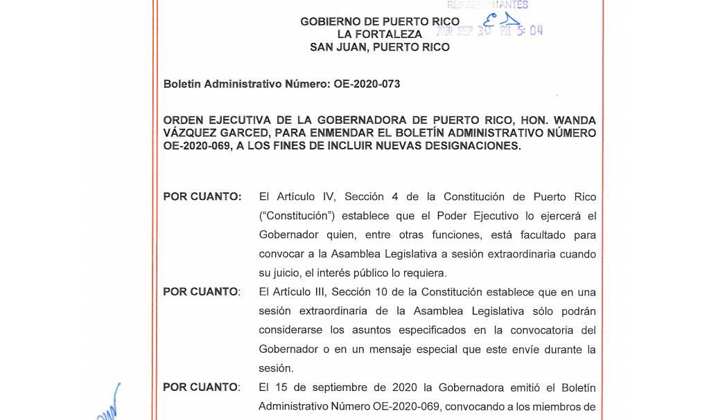 Gobernadora enmienda nuevamente orden ejecutiva de nombramientos