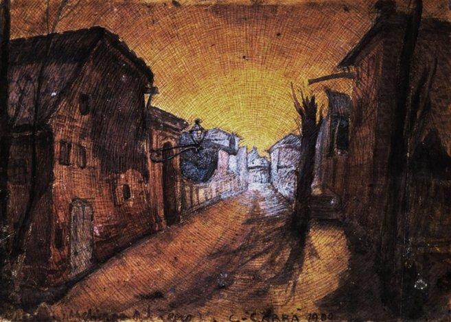 Carlo Carrà - La strada di casa 1900