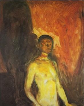 Edvard Munch - autoritratto all inferno 1903