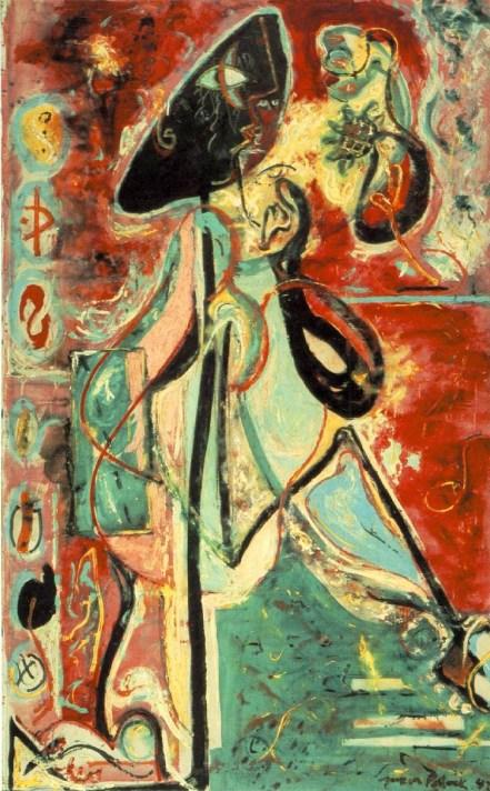 Jeckson Pollock - moon-woman