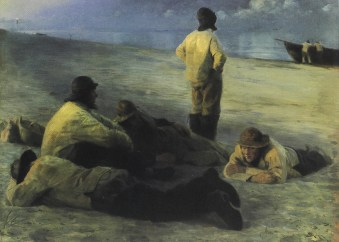 Peder Severin Kroyer - Fishermen_on_the_Beach