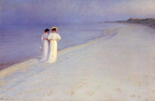 Summer Evening at Skroger Beach 1893 - Peder Severin Kroyer