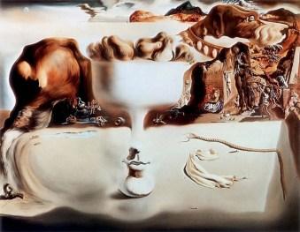 Salvador Dalì - apparizione del volto e del piatto di frutta sulla spiaggia
