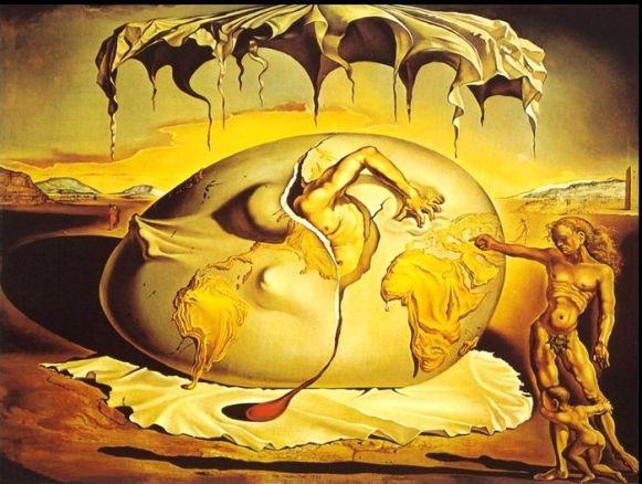 Salvador Dalì - geopolitico che osserva_la_nascita_nuovo_uomo