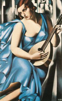 Tamara de Lempicka -1929-LadyinBluewGuitar
