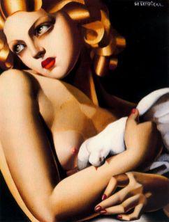 Tamara de Lempicka -Femme-a-la-Colombe-1929-1930