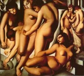 Tamara de Lempicka -Women-at-the-Bath-1929