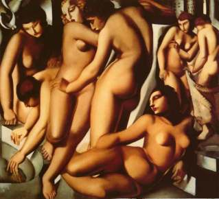 Tamara de Lempicka -Women-at-the-Bath-1929
