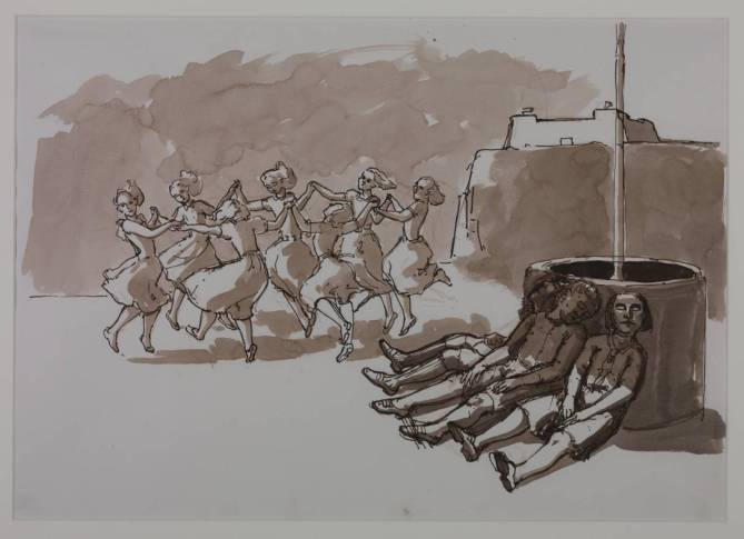 Drawing for 'The Dance' 1988 by Paula Rego born 1935