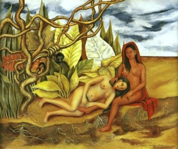 Frida Kahlo - Two nudes in the forest, 1939
