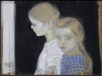 Felice Casorati - Le due bambine