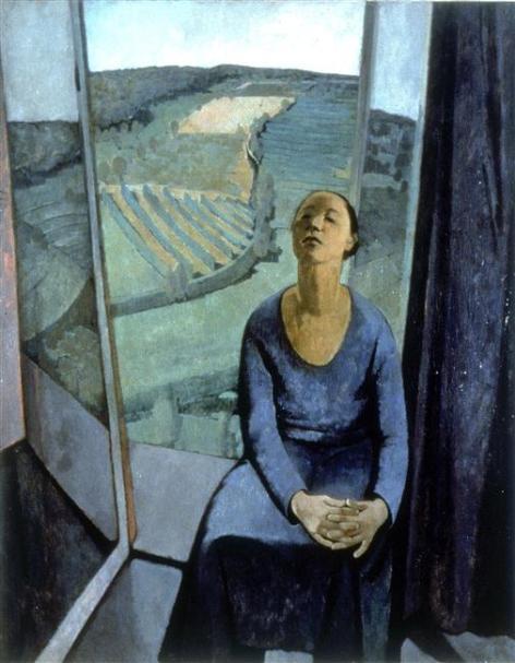 Felice Casorati - Daphne at paravola,1934
