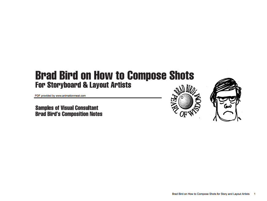 Brad Bird how to compose shots