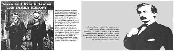 Jesse e Frank James John Wilkes Booth