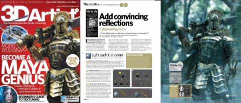 Image and tutorial featured on the cover of 3D Artist Magazine, Issue #67