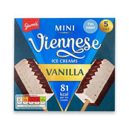 Gianni's Mini Viennese Vanilla Ice Creams 5 Pack 175g