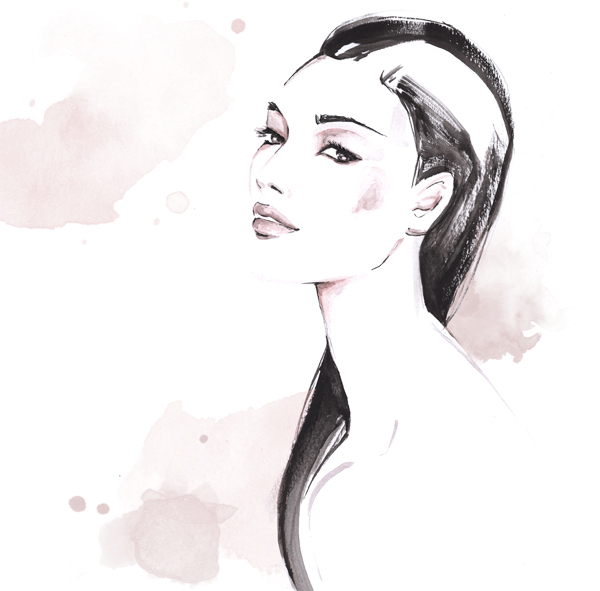 Fashion illustration Archives   Al Draws Beauty Skincare illustration Alessia Landi Al Draws watercolor