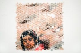 """Chicana, (Aldrich), oil and silicone, 30"""" x 24"""", 2016."""