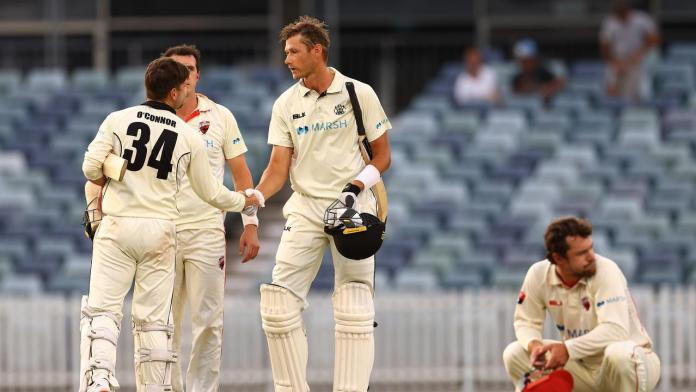 Sheffield Shield, Western Australia draw with South Australia, Liam O'Connor, 'heroic 0 not out'