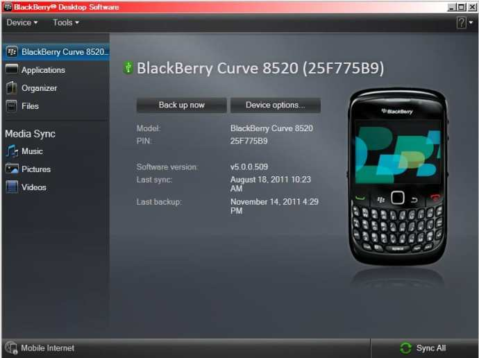 Backup Data Menggunakan Blackberry Desktop Software