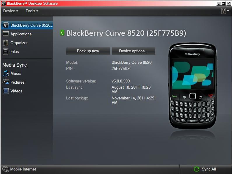 Backup Data Menggunakan Blackberry Desktop Software
