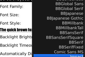 Cara Menambahkan Fonts BlackBerry Tanpa Aplikasi