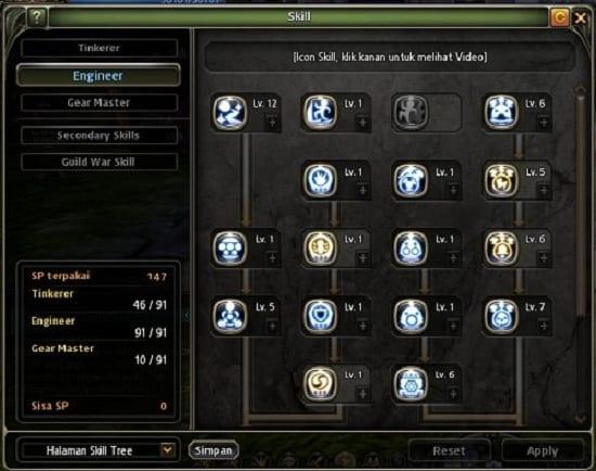 Skill Build Gear Master