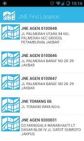 Aplikasi JNE Untuk Android