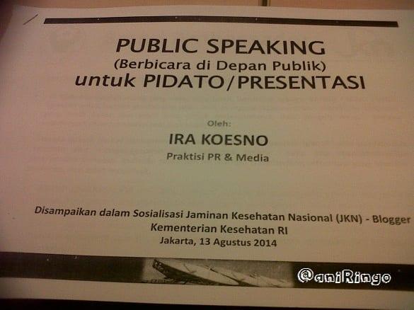 Materi Public Speaking Ira Koesno