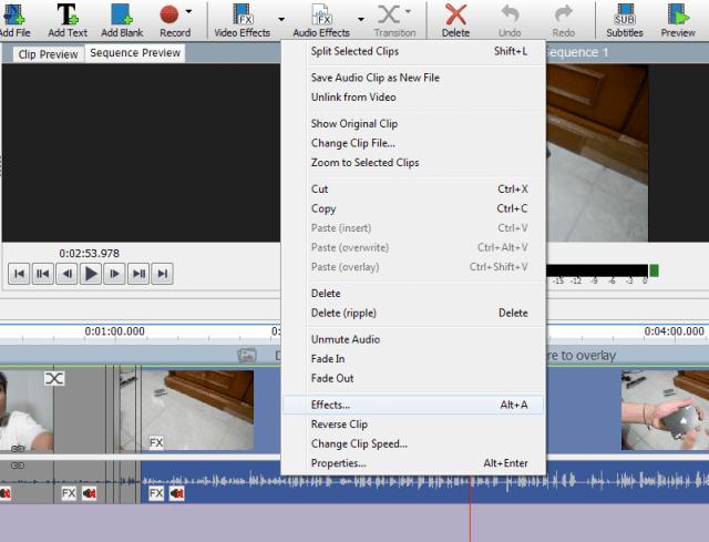 Efek Suara Videopad