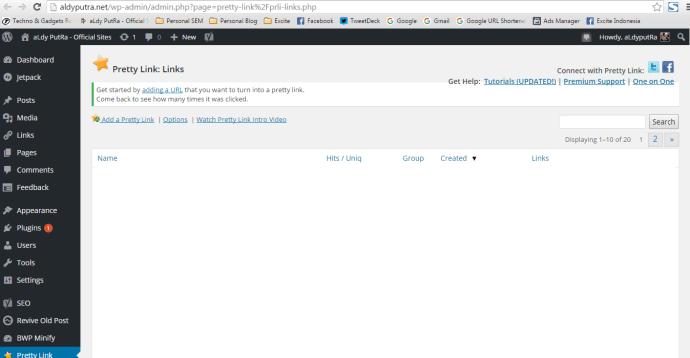 Memperpendek URL Link