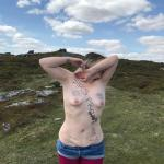 The barefoot sub on corndon tor topless with her arms crossed over her face. and top 9 for 2020 image for May