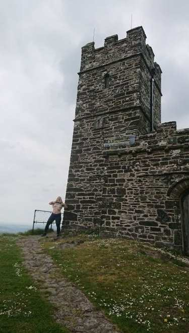 The barefoot sub topless at brentor for tits out tor bagging