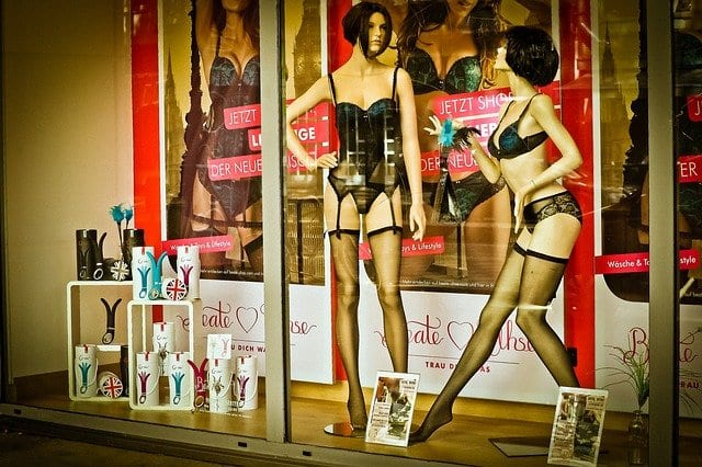 sex shop window for a trip with a difference part 1