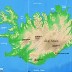 Iceland Physical Map A Learning Family