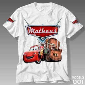 Camiseta Carros Disney 001